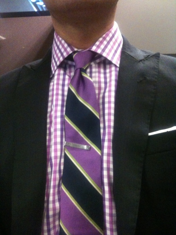 Gingham Shirt With Striped Tie Page 2