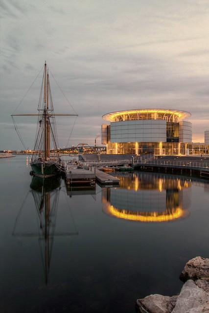 Docked at Evening, Pier Wisconsin