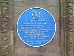 Photo of John Barran and Thomas Ambler blue plaque