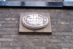 Photo of William Hyde Wollaston stone plaque