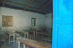Inside of Secondary school classroom