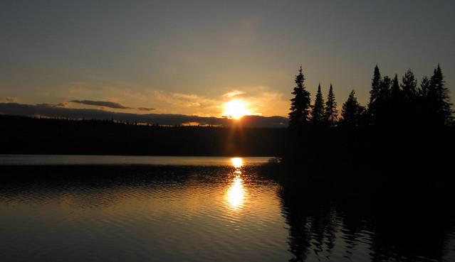 Sunset on Egge Lake