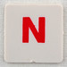 hangman tile red letter N
