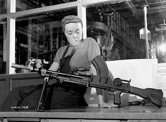 """Veronica Foster, known as """"The Bren Gun Girl,"""" poses with ..."""