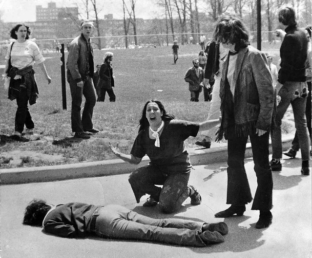 Mary Vecchio over the body of Jeffrey Miller, Kent State 1970, by John Filo