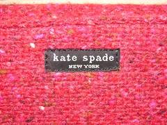Kate Spade Red Tweed Logo