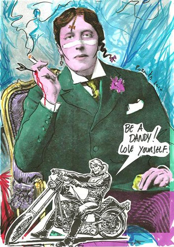 Oscar Wilde as Adam Ant (Detail)