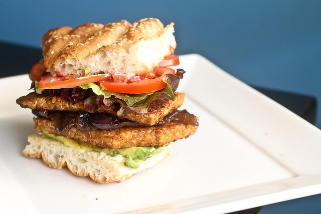 Blackened Tempeh Burgers