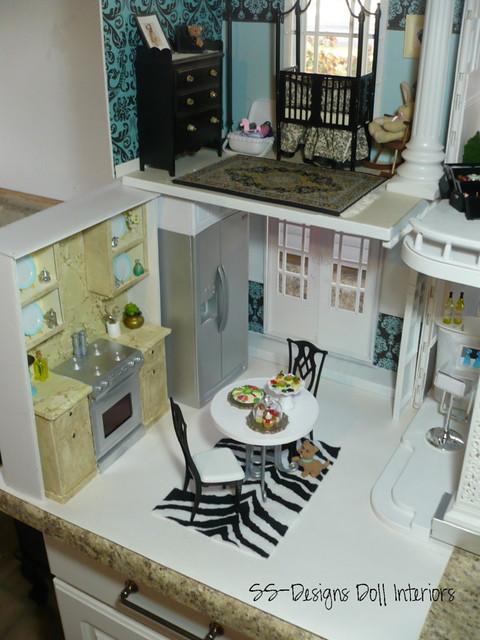 Barbie Dollhouse Kitchen Ariel View