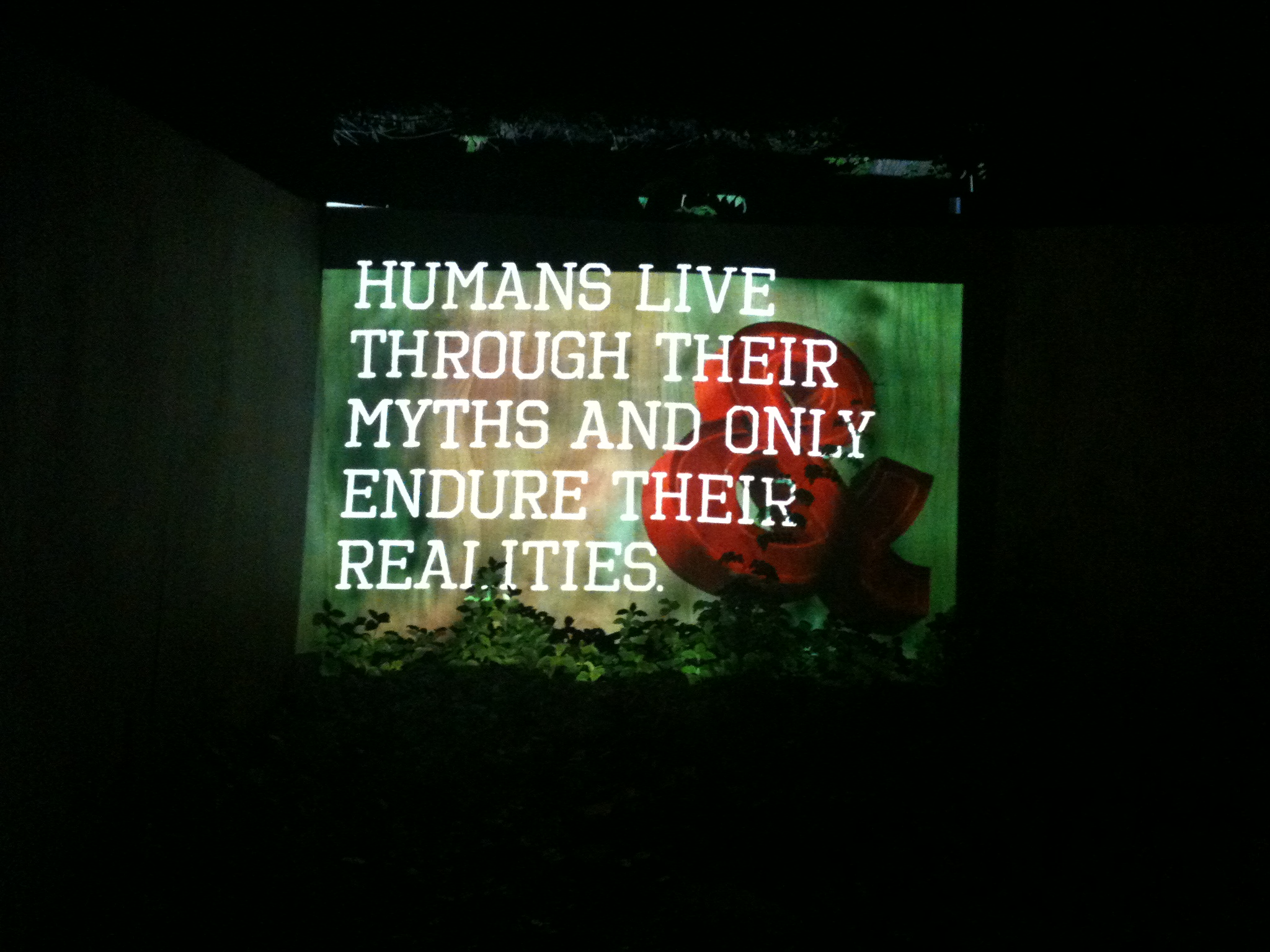 """""""Humans live through their myths and only endure their realities"""""""