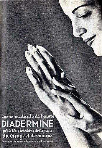 The 1940s-ad for Diadermine cream