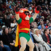 Benny the Bull dresses as Robin