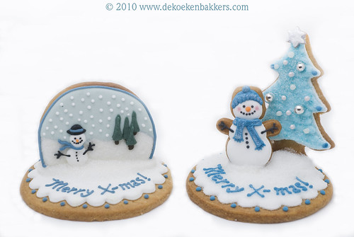 3D Christmas cookies for MjamTaart! magazine