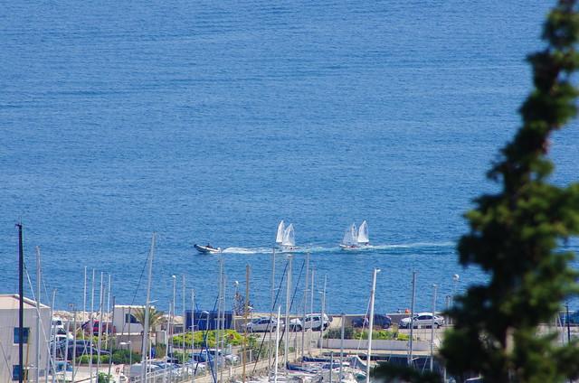 232 - Split, Croatie, Mai 2017 - en montant vers le parc  Šuma Marjan, le port de plaisance