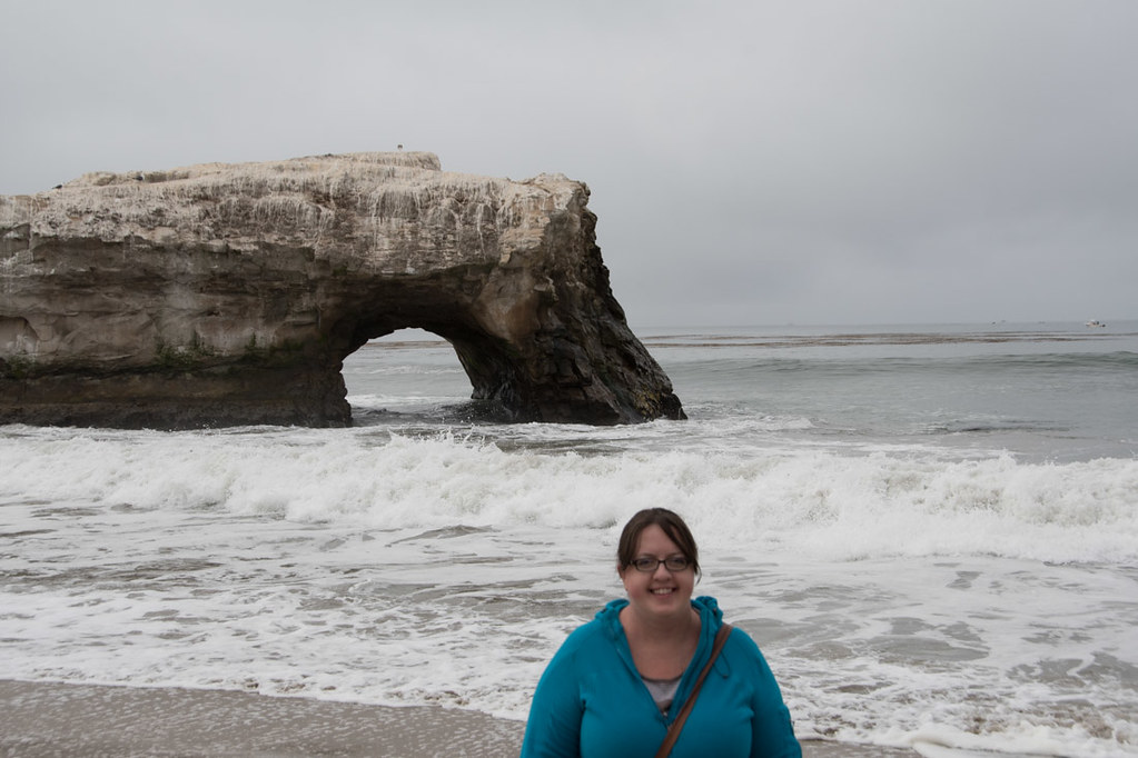 Melissa at Natural Bridges State Beach