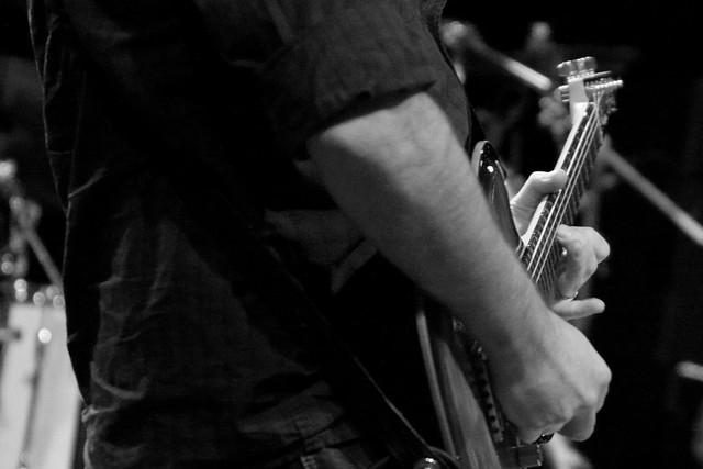 Photo:Godin guitar in b&w By risastla