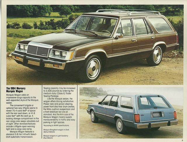 1984 Mercury Marquis station wagons