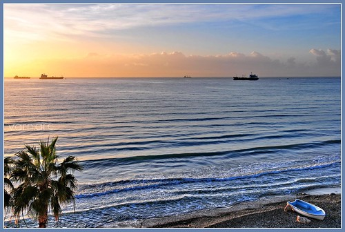 morning blue sea clouds sunrise ship waterfront fishingboat nikond300 dedicationfromcyprus cyprusseascape varnavasthearchitect