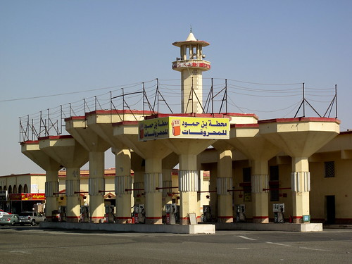 Gas station, outside Jeddah, Saudia Arabia.  October, 2009