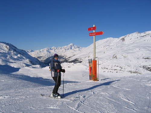 The OK piste in Val d'Isere