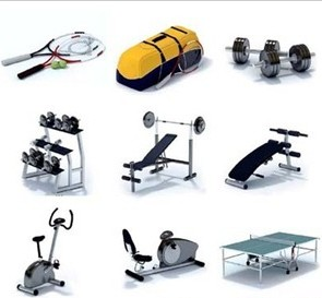 Modelos 3d de equipos de gimnasio para descargar for Productos gimnasio