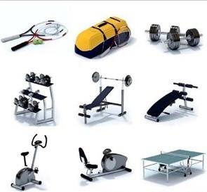modelos 3d de equipos de gimnasio para descargar