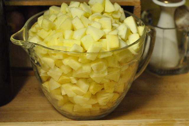 chopped apples