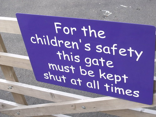 Fox Hollies Children's Centre and Hall Green Children's Centre - sign - children's safety