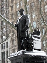 Chester Arthur Statue - Madison Square Park - Snow in NYC by David Berkowitz, on Flickr