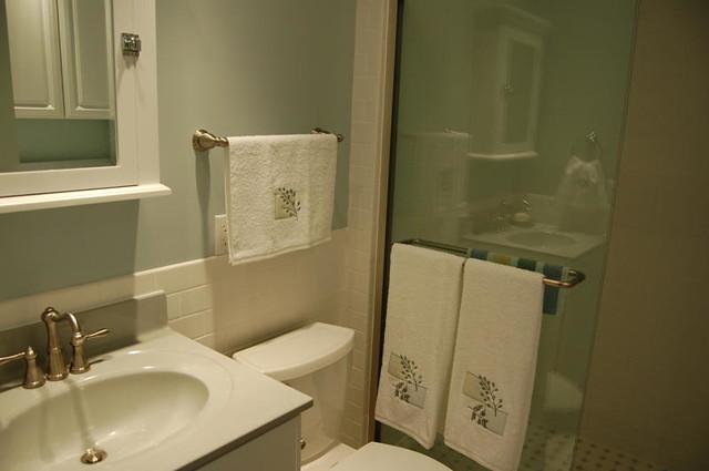 Bathroom Chair Rail W Subway Tile Kidwell Flickr