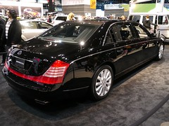 mercedes-benz(0.0), bentley continental flying spur(0.0), mercedes-benz s-class(0.0), limousine(0.0), automobile(1.0), automotive exterior(1.0), wheel(1.0), vehicle(1.0), automotive design(1.0), maybach 62(1.0), auto show(1.0), maybach 57(1.0), sedan(1.0), land vehicle(1.0), luxury vehicle(1.0),