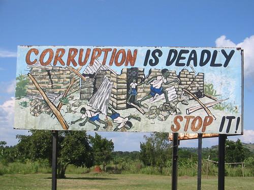 Ugandan anti-corruption sign