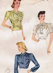 Lovely 1930s blouse pattern
