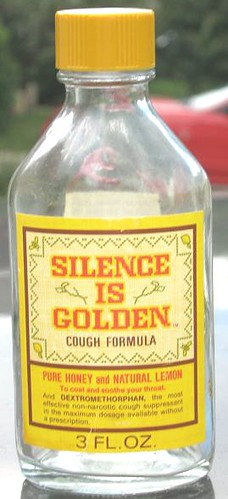Silence Is Golden Cough Medicine Bristolmeyers 1971 A Photo On