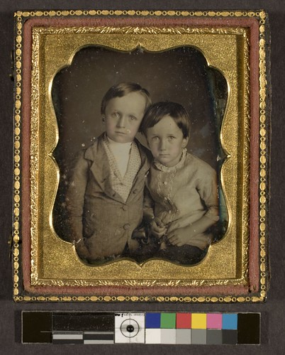 Portrait of two unidentified children