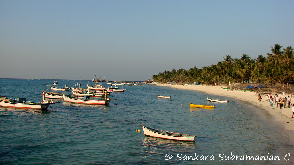 Kavaratti Beach at just before sunset