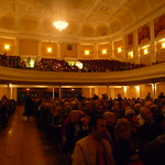 Crowd at Simon Schama event
