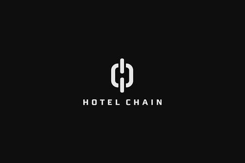 13 amazing logos with negative space for Design hotel chain