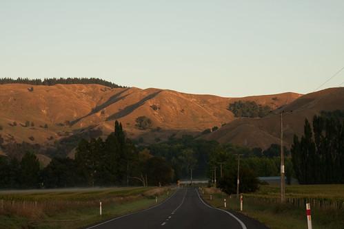 newzealand sun mist sunrise vanishingpoint gisborne