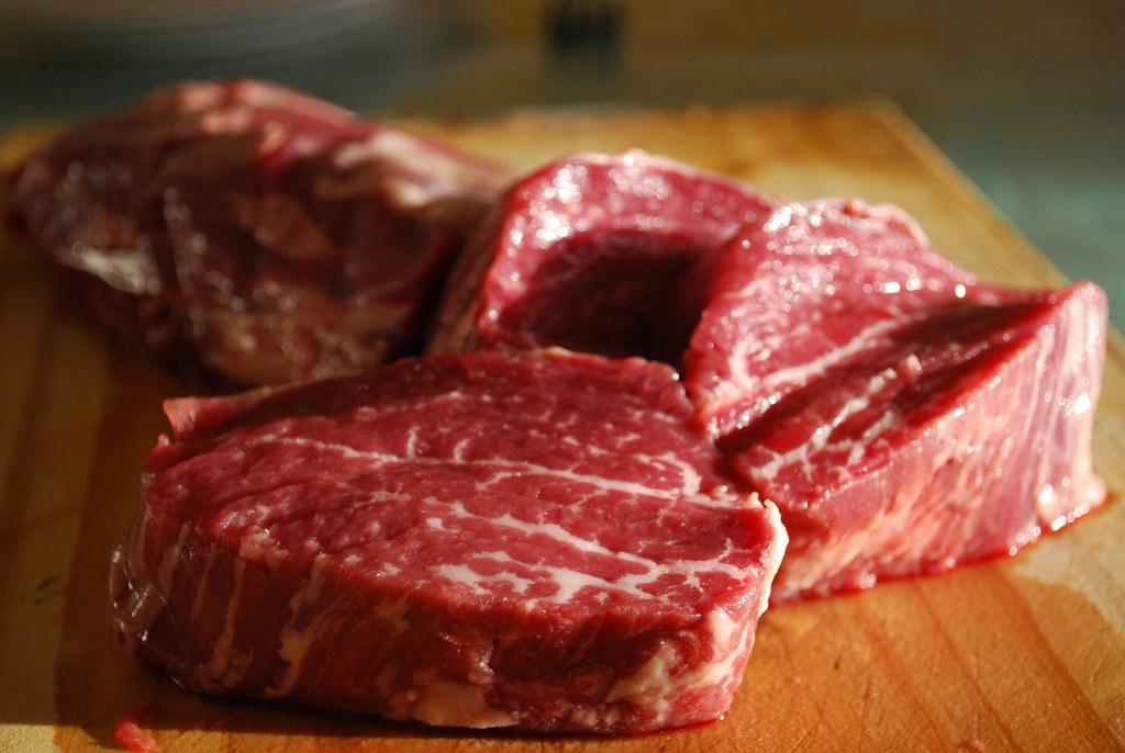 Eye fillet marbling - Little Creek Cattle Co Grass-Fed Beef