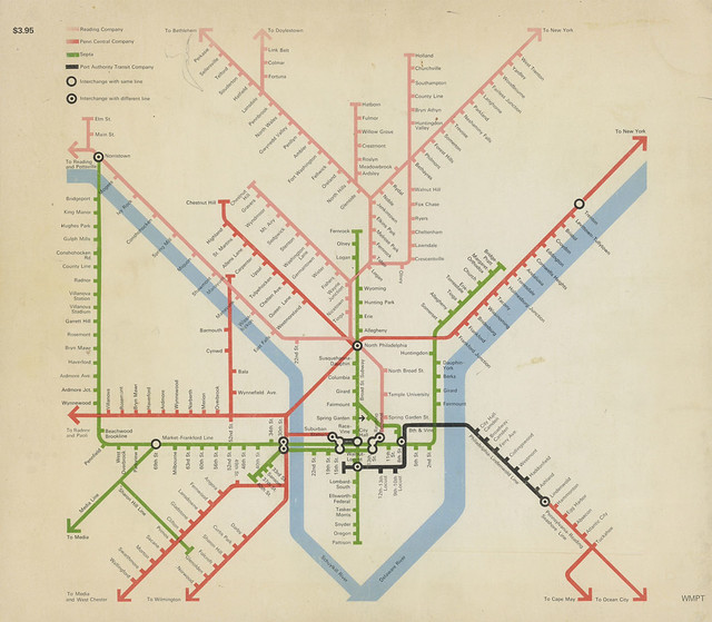 Philadelphia rail map - 1972