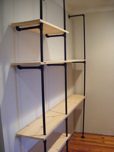 pipe shelving unit finished port richmond row. Black Bedroom Furniture Sets. Home Design Ideas