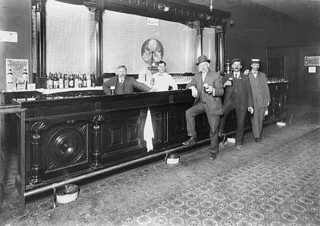 Interior of saloon, Everett
