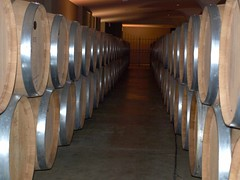hall, wood, winery, aisle,
