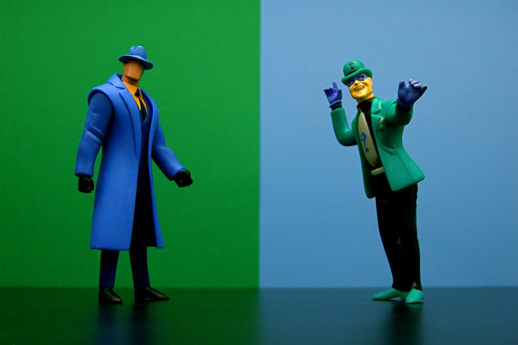 Question vs. Riddler (95/365)