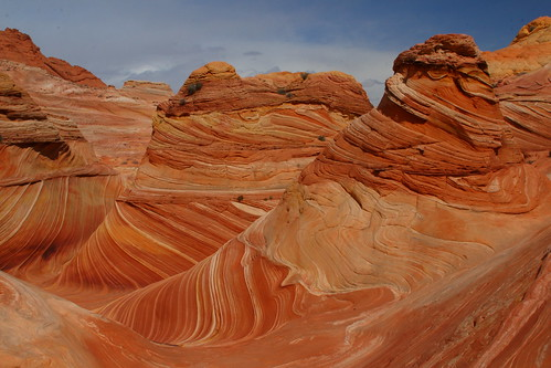 Unreal rock formations at The Wave, Coyote Butte North, Arizona