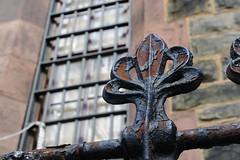 Behind bars...