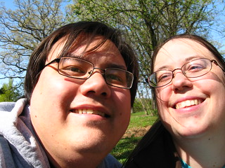Chris and Sarah at the arboretum