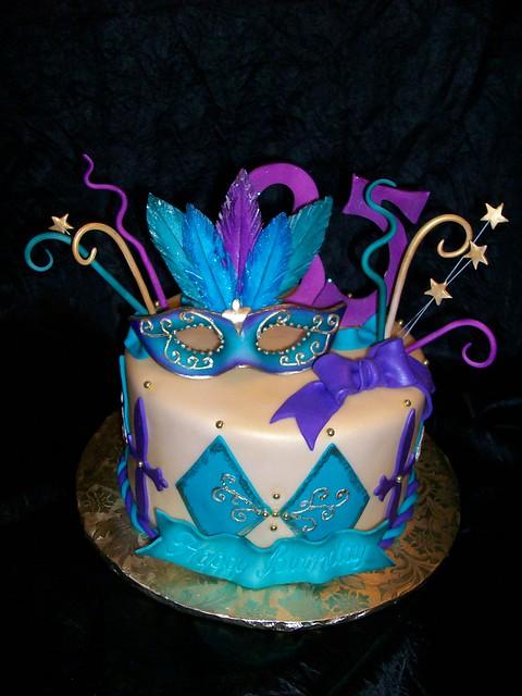 Happy Birthday Sandra Mardi Gras Cake