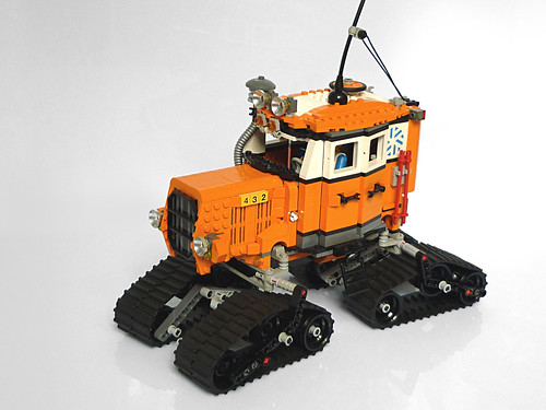 Sno-Cat Arctic Tractor by Pierre E Fieschi
